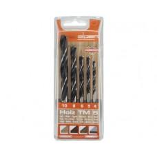 Trusa 5 burghie 4-10 mm Alpen 0000600112100 pentru lemn dur si moale
