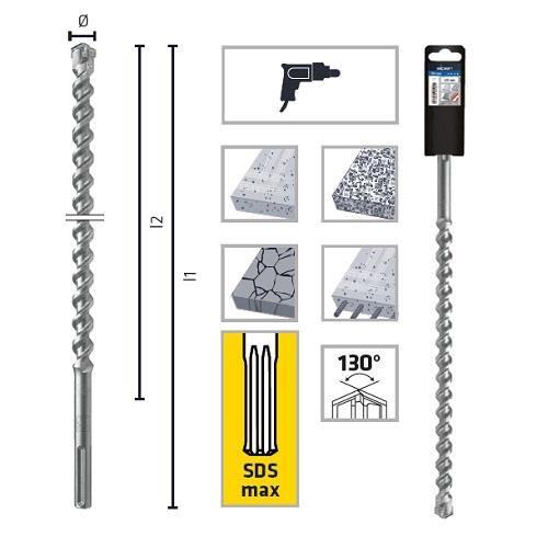 Spit SDS-Max  pentru beton, zidarie, piatra naturala Alpen 0097000400100 400 mm