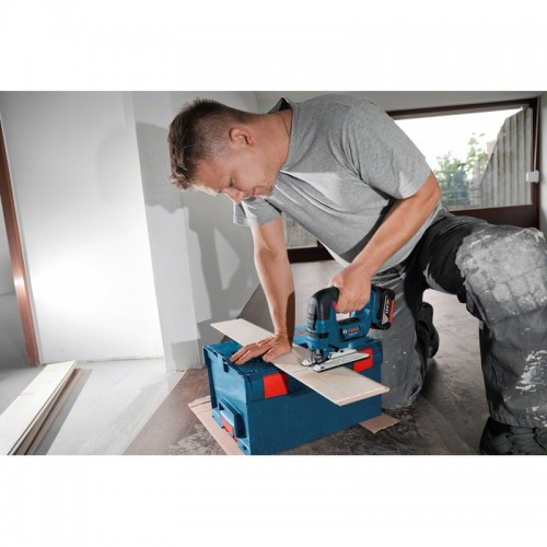 Ferastrau vertical compatibil cu acumulator Bosch GST 18 V-LI B + insertie L-Boxx 06015A6100