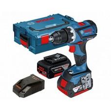 Masina de gaurit si insurubat cu acumulator Bosch Professional GSR 18 V-60 C + L-Boxx + 2 x acumulator 06019G1100