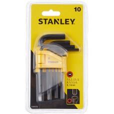 "Set de 10 chei imbus ""L"" metric 1.5-10mm STANLEY 0-69-253"